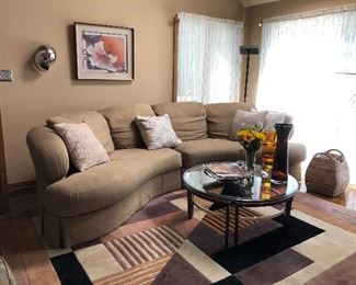 KIDNEY SHAPED SECTIONAL COUCH