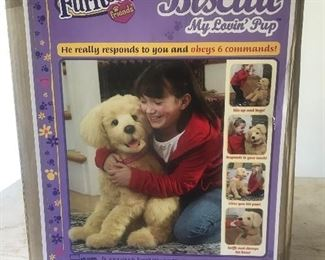 Biscuit Toy dog with box. does not respond to commands