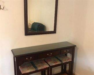 bombay table with mirror