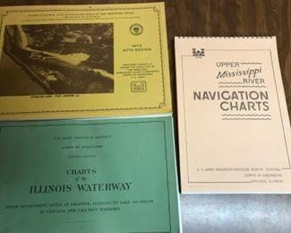 detailed navigation charts printed 1979