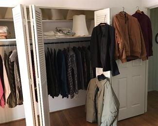 mens dry-cleaned  long sleeved dress shirts , coats.