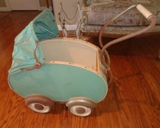 wonderful, great condition art deco doll buggy