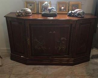 Jasper Furniture Asian inspired console cabinet