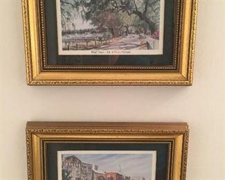 Sites of Georgia framed artwork