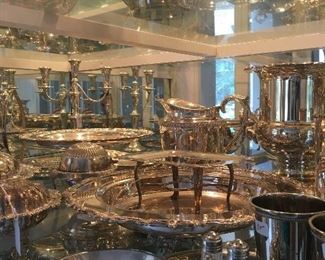 Pieces of silver plate