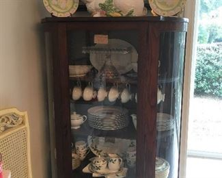 Tiger wood Curio china cabinet