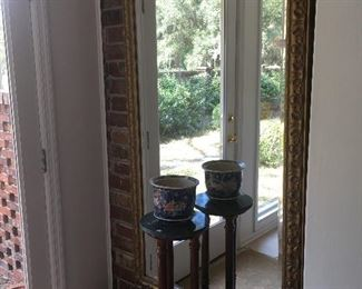 Large Mirror, plant stand and pot