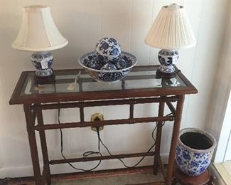 Blue and white Décor , Foyer table