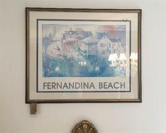 Fernandina Beach Framed art
