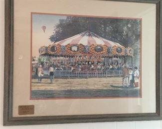 Carousel framed art