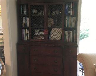 Antique Secretary desk cabinet