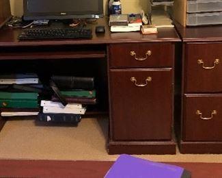 Office furniture: desk, cabinet...