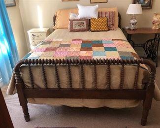 Vintage Jenny Lind full size bed