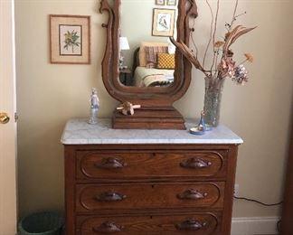 Eastlake marble top dresser/mirror...