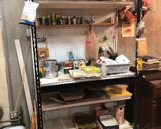 Black and Decker work station with lighting, craft items