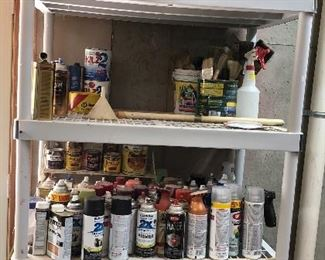 Misc assortment: paints, stains, Kilz2, shellac...
