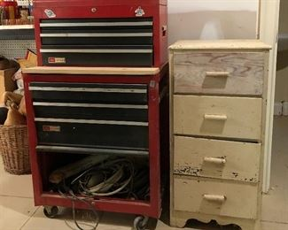 Craftsman tool chests,  4 drawer wood chest