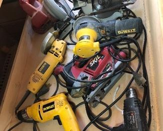 Hand tools: DeWalt, Craftsman Sawmill, Skil, Black & Decker...