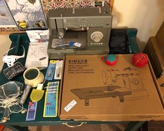 Singer HD110C  commercial grade sewing machine, singer quilter table, magnifiers ...