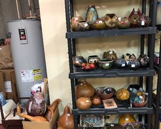 Gourds galore! Hand carved, hand painted... So Unique!
