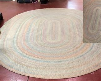 Large oval braided rug