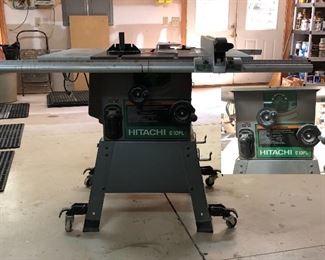 Hibachi C10FL table saw on stand