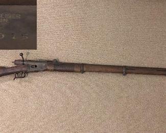 Vintage rifle: Vetterli Swiss, W.V. Steiger Thun    31915