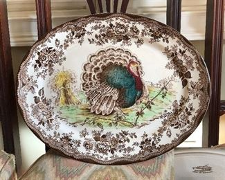 Rare Antique Turkey Platter Royal Staffordshire Clarice Cliff, Excellent Condition!!