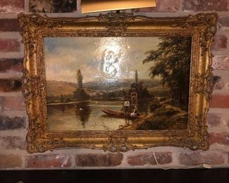 Original 19th century oil by  Theodore Hines