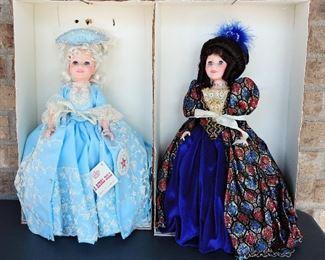 Fancy porcelain dolls