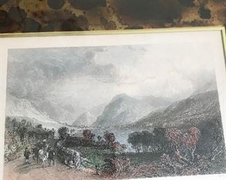 1800's etching x2