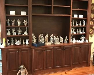 Very nice collection of Lladro figurines, the family is adding more