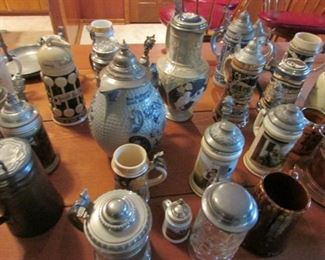 Some of our beer steins