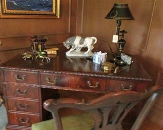 Hadley Desk & Chair  Oh and look at the Royal Copenhagen Bull