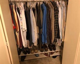 Men's clothing/shoes/belts and coats/suits