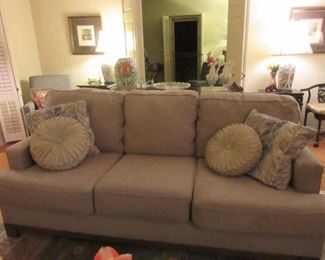 Grey wool type sofa