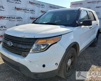 160: 2015 Ford Explorer, White AWD, Cold AC, Power windows, locks and mirrors, cruise control, rearview backup camera Year: 2015 Make: Ford Model: Explorer Vehicle Type: Multipurpose Vehicle (MPV) Mileage: 120656 Plate: {ENTER PLATE NUMBER HERE} Body Type: 4 Door Wagon Trim Level: Police Drive Line: 4WD Engine Type: V6, 3.7L; FFV Fuel Type: Gasoline/E85 Horsepower: Transmission: VIN #: 1FM5K8AR9FGB41303