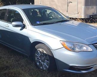 At 8PM: 2012 Chrysler 200 LX Sedan Estate Auto. VIN: 1C3CCBAB9CN176637 Vehicle Terms:  Vehicles are sold AS IS, in AS FOUND/ESTATE condition. - Minimum of 10% deposit due on day of auction (Cash, Check, VISA, MC, AmEx, or Debit). - Balance paid in full by Thursday following (Cash or Certified Bank Check ONLY).