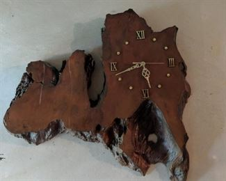 $40  Wood clock