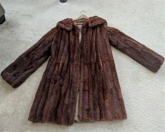 $50  Mink coat - size 8