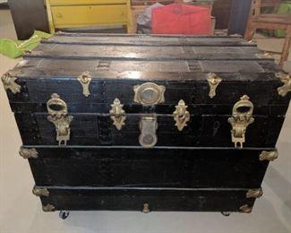 $80  Vintage black trunck