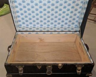 $80  Vintage black trunk