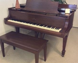 "Steinway and Sons Grand Piano, Model M Serial Number 180628 (1917), ""Patent Grand Construction Oct 3 1899"". Recently Tuned and Cleaned with Paperwork."
