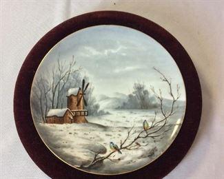 """Decorative Plates, 11"""" diameter."""