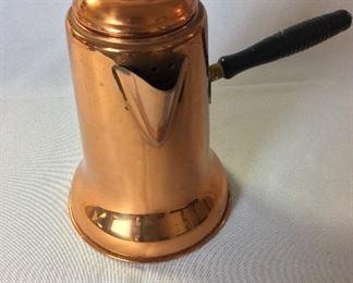 """Copper Tea Pot, 7 1/2"""" H."""