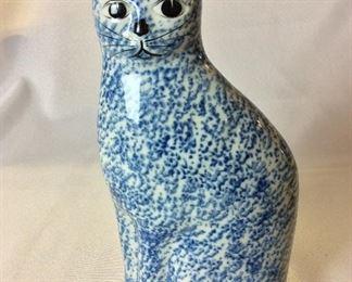 """Porcelain Cat, 10"""" H."""