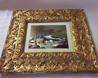 """Gilted Framed Art, 17"""" x 15 1/2""""."""