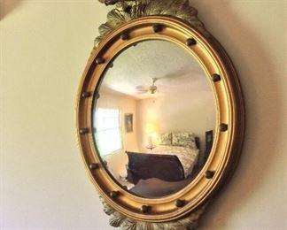 "Convex Mirror with Eagle, 31"" H."