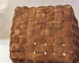 "Vintage Basket circa 1936, 12"" H."