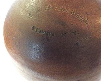 """E.W. Farrington, Elmira, NY Jug, 10"""" H."""